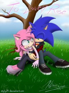 Amy rose and sonic Sonic And Amy, Sonic 3, Kids Cartoon Characters, Cartoon Kids, Amy Rose, Sonic The Hedgehog, Shadow And Amy, Sonic Funny, Kiss Art