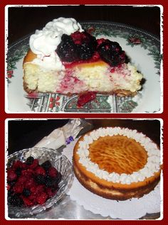 Rosie's Country Baking: Italian Cheesecake with Berries and Cream