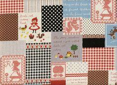 Little Red Riding Hood / Trefle / Japanese Cotton Quilting Fabric / Kokka / 1/2 Yard. $9.95, via Etsy.