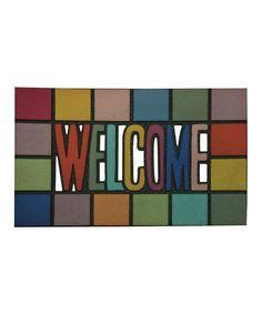 Look at this #zulilyfind! Rainbow 'Welcome' Doormat by Mohawk Home #zulilyfinds