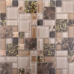 Stone marble mosaic tile glass mosaic kitchen tile backsplash SGMT058 FREE SHIPPING glass mosaic pattern wholesale glass mosaics [SGMT058] - $25.58 : MyBuildingShop.com