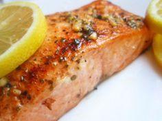 Lemon pan seared salmon fillets