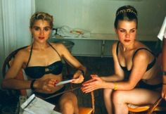 Madonna and Debi Mazar on the French Riviera in 1987, during the Who's That Girl tour.