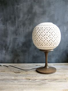 Vintage reticulated porcelain lamp to place next to your #windows. www.sandiego-shutters.com