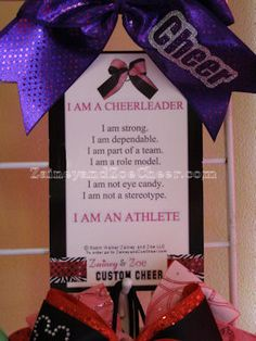 I AM A CHEERLEADER. I AM AN ATHLETE. Poster I Cheer Gift I Cheerleading I Teamwork I ZaineyandZoeCheer.com