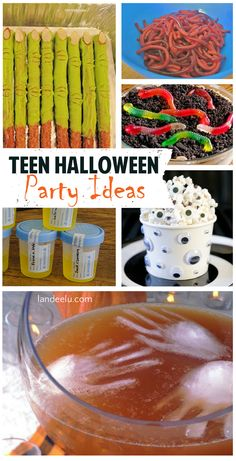Teen Halloween Party Ideas !  Great ideas to throw an awesome Halloween party for teenages (and tweens!) Decor ideas, games, treats and recipes galore!