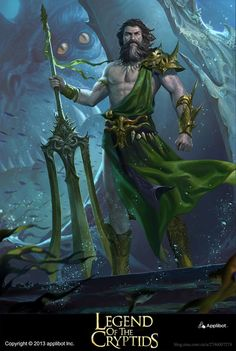 Artist: Jack Wang (Concept Art House) - Title: Mermaid King - Card: Boiling Tides Theodoric