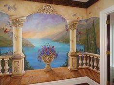 Custom Mural, Mediterranean Mural, Decorative painting, Italian Murals, custom wall art