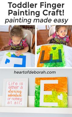 Looking for an indoor activity for your child? Engage in sensory play and create a canvas masterpiece with this brilliant finger paint craft. Keep your toddler busy and try this EASY toddler finger painting craft.