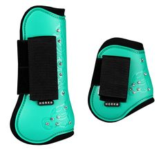 Horka Royal Crystal Tendon Boot Set of Four Mint Green Who says great protective boots can't also be fun and fashionable? Elegance meets function with a beautiful swirl pattern touched with Rhinestone