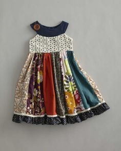 girls field of flowers dress