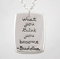 I'm always talking about the power of positive thought; probably to the point of it being annoying. But this necklace is so true. Change your thoughts, change your life.