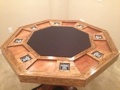 Top of my homemade poker table