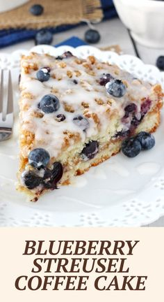 Baking Recipes, Cake Recipes, Dessert Recipes, Delicious Desserts, Yummy Food, Tasty, Streusel Coffee Cake, Blueberry Recipes, Breakfast Dishes