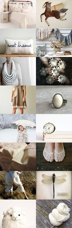 Dream in #cream by #plantedfeet on #Etsy--Pinned with TreasuryPin.com #shabby #vintage #ivory
