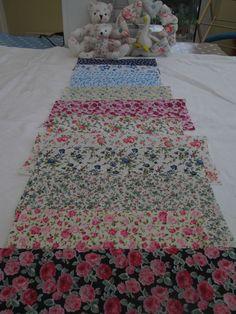 BN Very Pretty Vintage Floral Haberdashery Cotton Remnants x 12