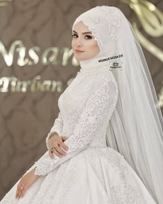 Ece DEMİR shooting a square photo from the opening of the model . Muslimah Wedding Dress, Muslim Wedding Dresses, Muslim Brides, Wedding Hijab, Bridal Dresses, Wedding Gowns, Bridesmaid Dresses, Bridal Hijab Styles, Most Beautiful Dresses