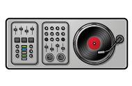 DJ disco console clip art
