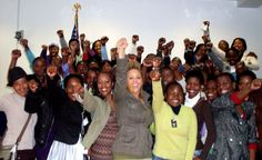 Yewande and the future leaders of Botswana! WE are soldiers for change!