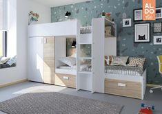 Patrová postel pro dvě děti Bo1 - bílá, bardolino