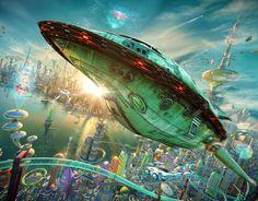 """Artista redesenha universo da série """"Futurama"""" em 3D"""