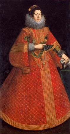 1620-1640 Anonymous Spanish painter, active in Castile in the first half of the 17th century - Portrait of a lady