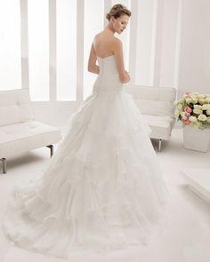8B185 PORVENIR | Wedding Dresses | 2015 Collection | Alma Novia (back)