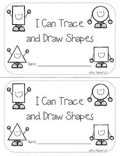 Students use this book to practice tracing and drawing the 2D shapes.  Circle, square, triangle, rectangle included.  Can be used as a whole class activity or intervention activity.*Oval and hexagon added on September 3rd, 2015.