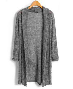 Open Drape Front Knit Cardigan