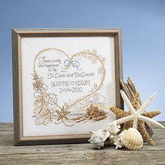 someone I know should have a beach wedding..  T50697 - Cross Stitch, Needlepoint, Stitchery, and Embroidery Kits, Projects, and Needlecraft Tools   Stitchery
