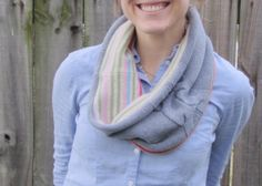 DIY Upcycled Sweater Cowl