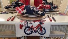 A Beach-Themed Table Setting for the 4th of July: Happy Independence Day! 4th Of July Celebration, 4th Of July Party, Fourth Of July, Independence Day Wallpaper, Happy Independence Day, Short Centerpieces, Happy 4 Of July, Beach Themes, Table Runners
