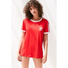 adidas Originals 3-Stripe Ringer Tee ($30) ❤ liked on Polyvore featuring jewelry, adidas and retro jewelry