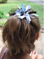 how to make blossom hair bows