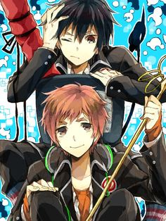 Shima and Rin // Blue Exorcist