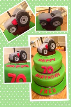 Vintage Tractor Cake