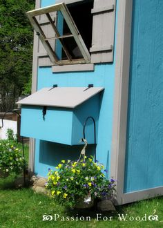 Shed Chicken Coop Plans by Ana White Easy Chicken Coop, Diy Chicken Coop Plans, Building A Chicken Coop, Building A Shed, Old Wood Windows, Free Shed, Garden Tool Shed, Wood Shed, Diy Shed