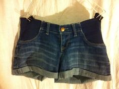 A Pea In A Pod Size Small Women's Maternity Jean Shorts #APeaInThePod #Denim