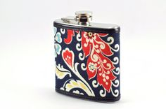 Paisley Wrapped FLASK  6oz by KeelanRogue on Etsy