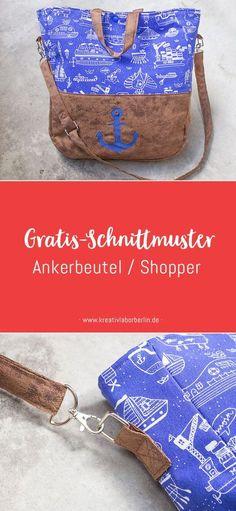 Gratis-Schnittmuster: Maritimer Shopper