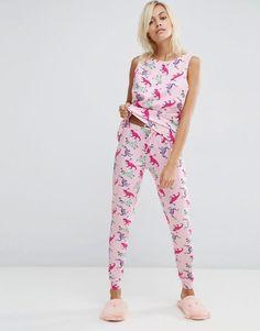 ASOS | ASOS Dinosaur Party Vest & Legging Pyjama Set at ASOS