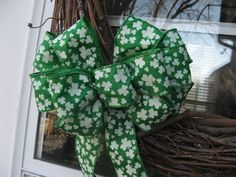 St. Patrick's Day bow Irish wreath bow by BabesnBowsBoutique