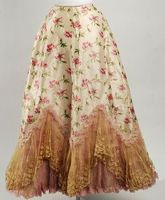 Petticoat 1895-98 french silk
