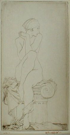 Sir William Russell Flint - 'Frileuse' Drypoint Etching
