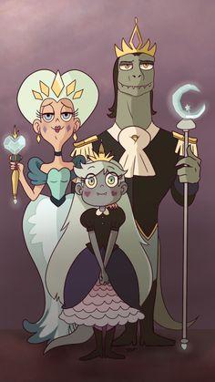 Royal Butterfly Family portrait ◇ / monster!Star AU