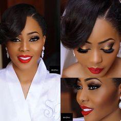 Nigerian bride, Steph Olise  Makeup: Banke Meshida Lawal   www.loveweddingsng.com