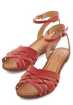 6.5, Stylish Surprise, Little Closer Wedge in Red by Seychelles