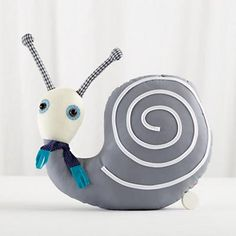 Baby Stuffed Animals: Plush Snail Music Box in First Birthday Gifts $25- $50
