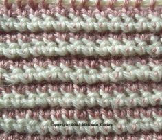 Double-Ended Hook Tunisian Crochet-Stitch Pattern #TunisianCrochet #CrochetStitch #CrochetPattern