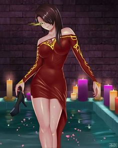 Villains can't be working on evil plans all the time. Sometimes they need to relax and just be a little naughty instead of super evil. Here's Cinder enj. Cinder After Dark Anime Sexy, Art Anime, Manga Anime, Rwby Anime, Rwby Fanart, Rwby Pyrrha, Rwby Red, Rwby Comic, Blake Belladonna